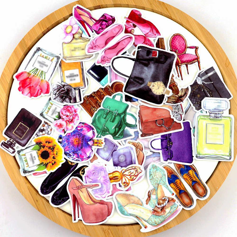 35 Pcs Cat Air For Man Parfum Sticker Sepatu Lucu Planner Stiker Scrapbooking Dekorasi/Tahan Air Pegatinas Alat Tulis