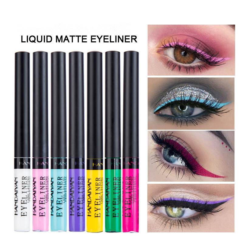 4 Color Eyeliner Liquid Waterproof Easy To Wear Make Up Matte Eye Liner Blue Red Green White Eyeliner