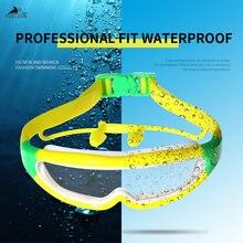 Профессиональные очки для плавания взрослых и детей плавательные