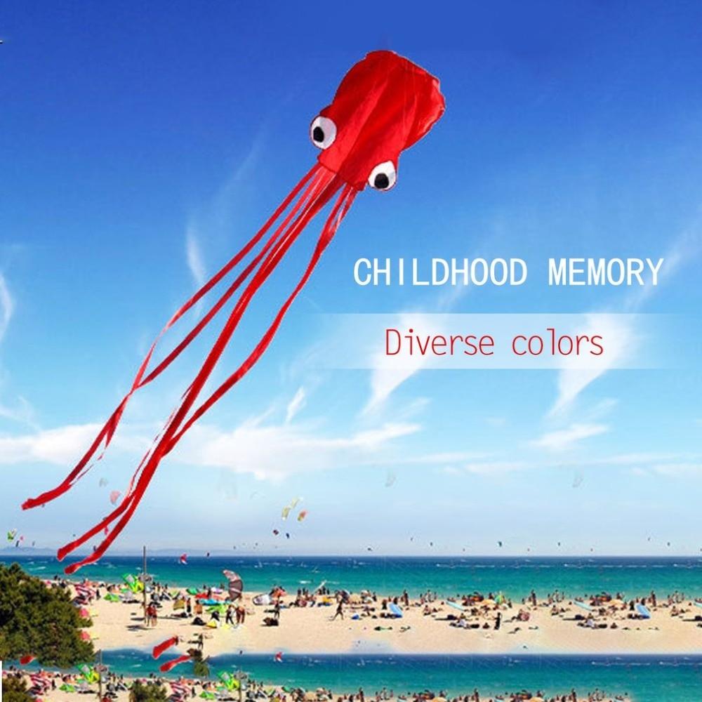 3D pieuvre cerf-volant ligne unique cascadeur/logiciel puissance Sport volant cerf-volant en plein air facile à voler enfants jouets amusants cadeaux