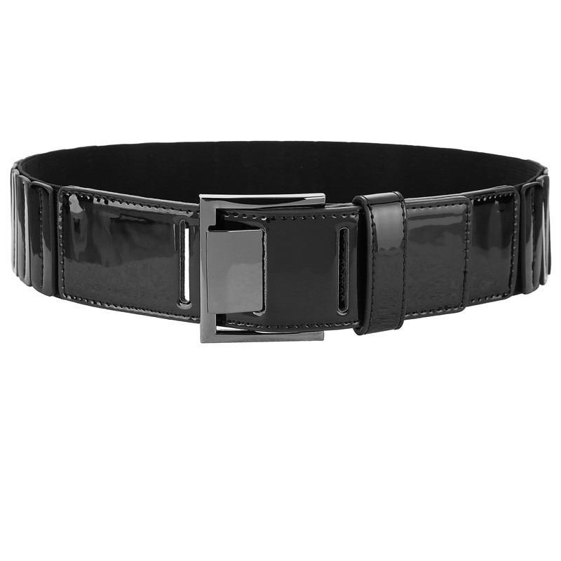 2020 New Design Spring All-match Waistband Female Fashion PU Elastic Belts For Women Solid Stylish Belt Trendy Corset Belt ZK778