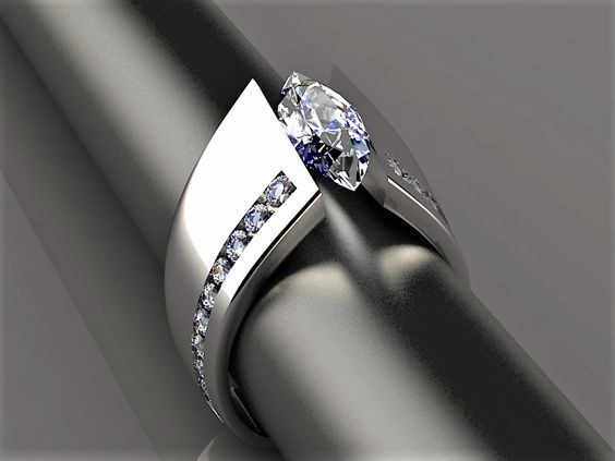 2019 New Biru Hitam Zircon Stone Ring Pria Wanita Pernikahan Warna Perak Perhiasan Janji Pertunangan Cincin untuk Pria dan wanita