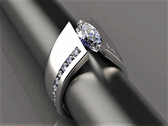 2019 חדש כחול שחור זירקון אבן טבעת זכר נקבה כסף צבע נישואים תכשיטי טבעות אירוסין הבטחת עבור גברים נשים
