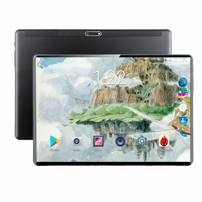 Newest 4G FDD LTE 10 Inch Octa Core Tablet Pc 6GB RAM 64GB ROM Dual SIM Cards 1280x800 IPS Android 9.0 WIFI Bluetooth GPS
