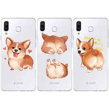 Corgi Butt Puppy Cartoon Leuke Dier Dumbo baby Case Samsung Galaxy S6 S7 S8 S9 A7 2018 PLUS RAND NOTE 8 9 2017 siliconen Cover(China)