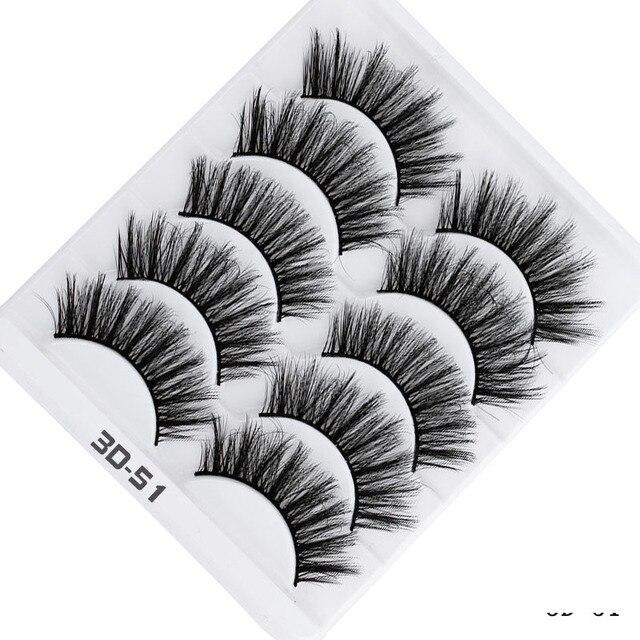 AY 5 Pairs Beauty lashes Eyelashes Mink 2020 New 3D Mink lashes Womans Makeup Tools Wholesale Eeyelashes Mink lash Vendors 3