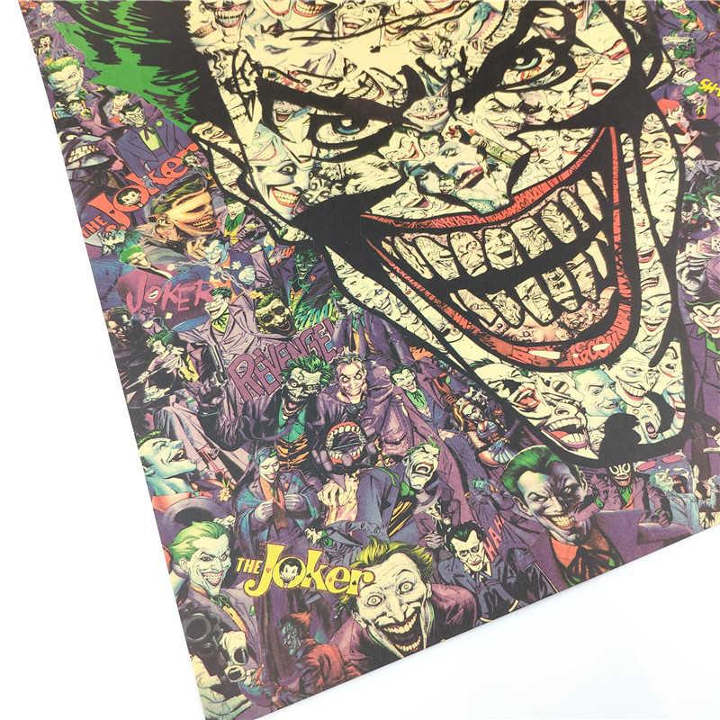 빈티지 클래식 만화 조커 회화 포스터 룸 장식 스티커 벽 장식 크래프트 종이 홈 인테리어 벽 스티커 포스터