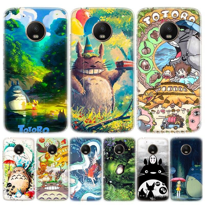 Studio Ghibli Spirited Away Totoro Phone Case For Motorola MOTO G8 G7 G6 G5 G5S G4 E6 E5 E4 Plus Play Power One Action Soft Sili