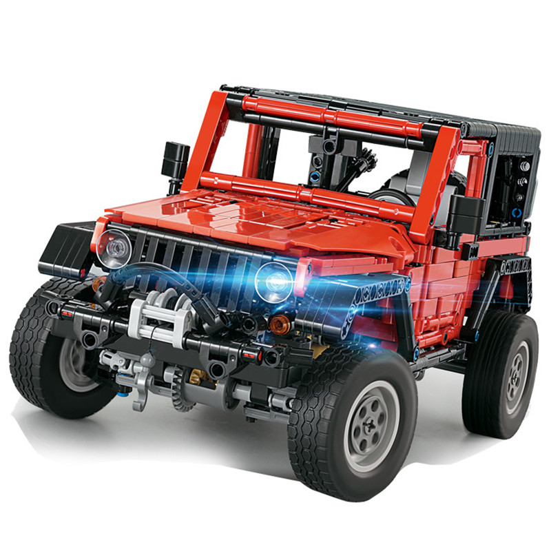 <font><b>Technic</b></font> Jeeped Wrangler Building Blocks Kits Bricks Classic City Creator Model Kids Toys For Children Gift image
