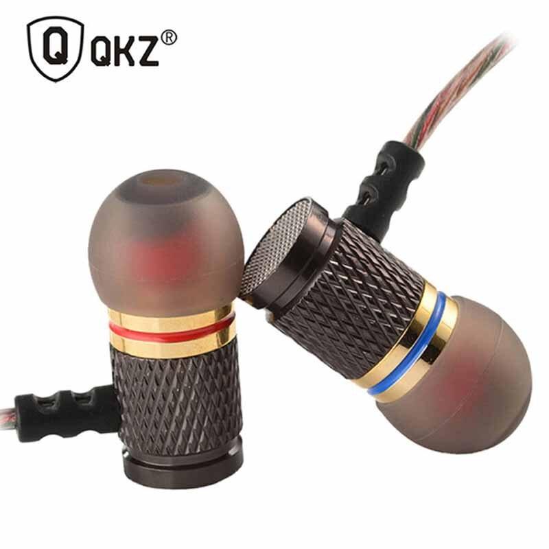 QKZ DM6 наушники-вкладыши 3,5 мм Металлические 3D наушники с тяжелыми басами качественные наушники спортивная Гарнитура для всех cel PK KZ AS10 ZS10 v80