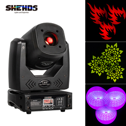 3 Facet Prisma Lier 80W Led Moving Head Licht 7 Kleuren 7 Gobos Dmx Spot Wash Projector Professioneel Podium bar Wedding Dance