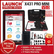 LAUNCH – X431 Pro Mini outil de Diagnostic de voiture, système complet, lecteur de Code OBD2, Bluetooth/Wifi, X431 V, V3.0