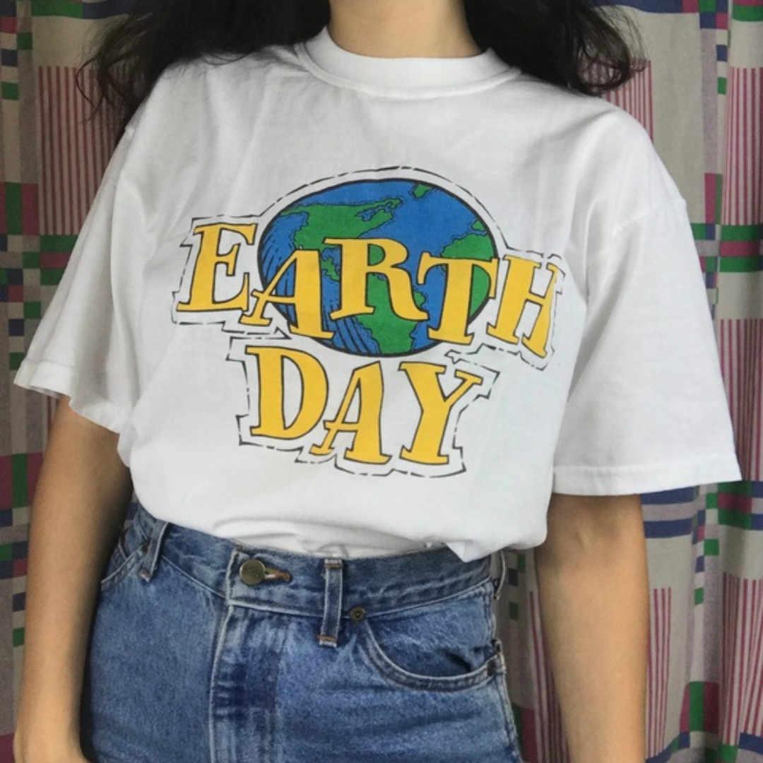 Camiseta estética para mujer chica del Día de la tierra 90s moda ...