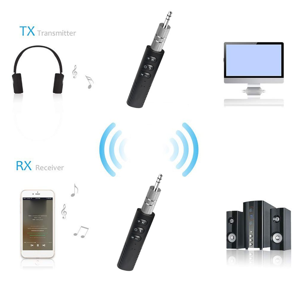 Mini 3.5mm Jack Bluetooth Car Kit Handsfree Music Audio Receiver Adapter Auto Bluetooth AUX For Speaker Headphone Car AUX