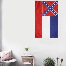 Горячая распродажа футов 90x150cm США США штата Миссисипи флаг наклейки на стену полукруг флаг