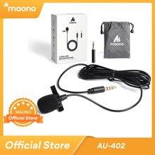 MAONO Lavalier-mikrofon Freisprecheinrichtung Kondensator Mikrofon Clip Auf Gesangsaufnahmen Revers Mic Wired Studio Mikrofon für DSLR Cam