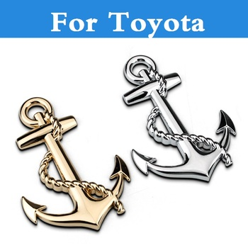 New Golden Silver Black anchor Emblem Car metal stickers decal for Mark II Mark X Mirai MR2 MR-S Opa Passo Platz Premio image