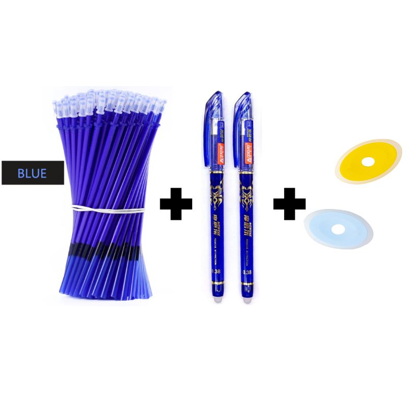 29Pcs/Set 0.5mm Gel Pen Erasable Refills Rod With 2 Erasable Pen And 2 Eraser School Writing Stationery Back To School Suppliers