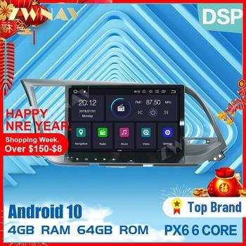 PX6 4+64 Android 10.0 car multimedia player for Hyundai Elantra 2016 2017 2018 car radio stereo navi dvd player gps BT head unit