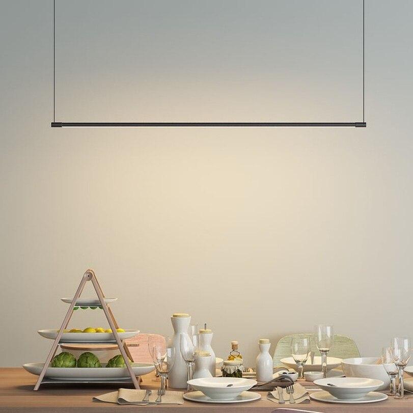 Minimalist Strips Pendant Lamps Dining Room Office Kitchen Hanging Lamps Modern Designer Restaurant Table Pendant Lights Fixture Pendant Lights     - title=