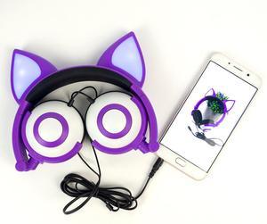 Image 3 - LIMSON kablolu sevimli hayvan tilki kedi kulak kulaklık katlanabilir yetiştirme çocuk kulaklıklar hediye erkek ve kız için