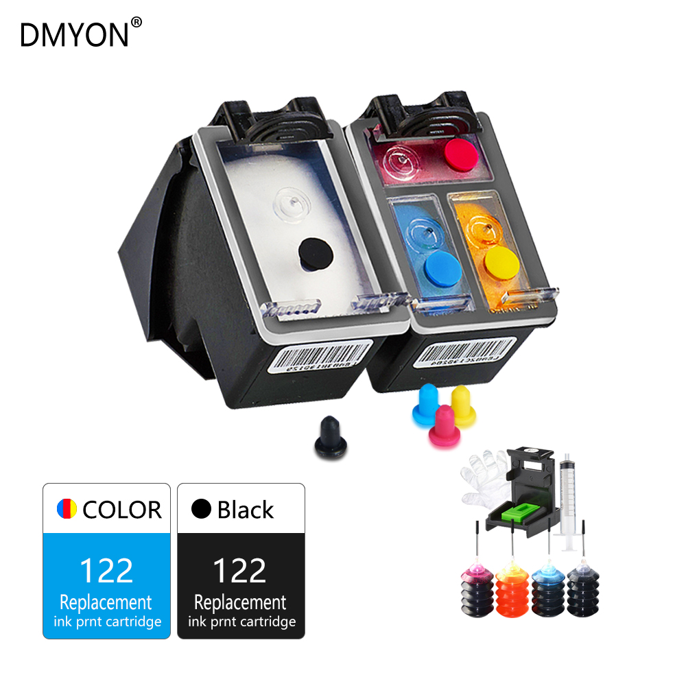 DMYON Compatible for Hp 122 122xl for Refillable Ink Cartridge DeskJet 1050 2050 2050s 2510 3510