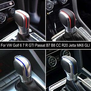 Image 4 - Automatic GearShift Knob For Volkswagen VW Golf 6 7 R GTI Passat B7 B8 CC R20 Jetta MK6 GLI ABS Leather Stick Lever Knob Shifter