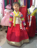 South Korea Imported Fabrics/latest Girl's First Birthday/stage Performance Children's Performance Korean Clothing / Hanfu Gift