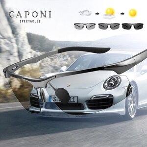 Image 3 - CAPONI sportowe okulary przeciwsłoneczne dla mężczyzn do ochrony oczu spolaryzowane odcienie do wędkowania fotochromowe ultralekkie okulary przeciwsłoneczne kierowcy BS8033