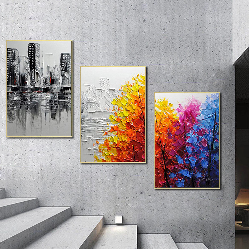 GATYZTORY 3pcs Painting By Numbers For Adults Landscape HandPainted Oil Painting Canvas DIY Gift Home Decor 40X50cm