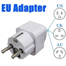 2pcs Portable Travel Charger Wall Plugs Converter Power Adapter US UK AU To EU Europe