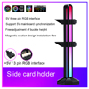 5V 3Pin ARGB Light Graphics Card Vertical Support Magnetic Headset Holder Stand promo