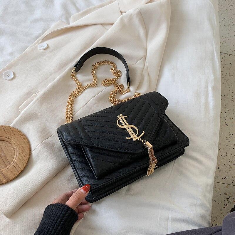 Роскошные модные сумочки 2020, модная женская кожаная сумка-мессенджер через плечо для ежедневного дизайнера, женская черная сумка через пле...
