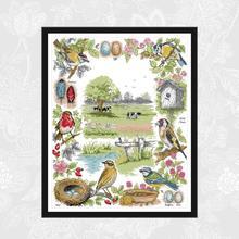 цены на The Ecology of Birds Patterns Counted Cross Stitch kit Sale DMC Cotton Thread Embroidery Set DIY Handmade Home Decor Crafts  в интернет-магазинах