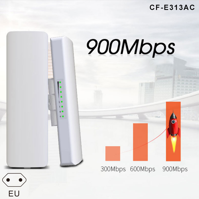 900Mbps 5.8G Outdoor Wireless Bridge High Power 5KM WIFI CPE Access Point FKU66