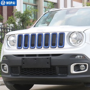 Image 4 - MOPAI Car Grille Cover Stickers for Jeep Renegade 2016 208Car Front Head Light Lamp Decoration Cover for Jeep Renegade 2016 2018