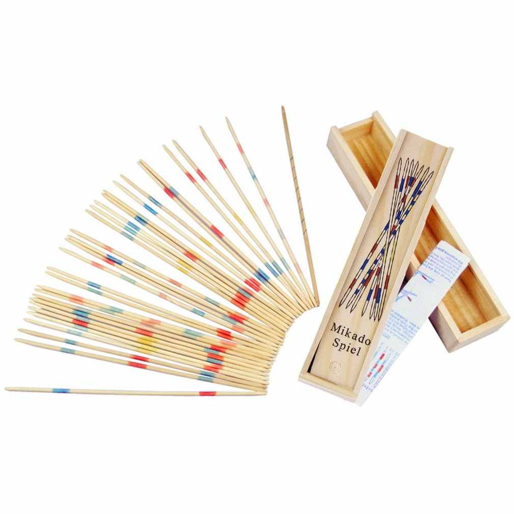 Baby Educational Wooden Traditional Mikado Spiel Pick Up Sticks With Box Kids Funny Learning Game Toys Wooden Math Toy