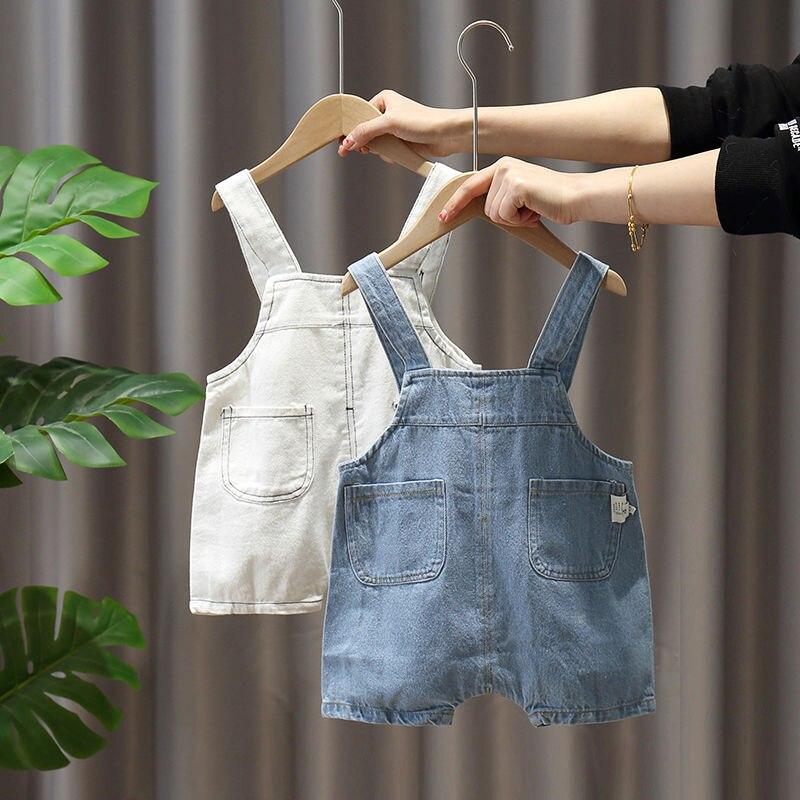 Boys and Girls Shorts Baby Children Denim Straps Shorts Kids Summer Clothes Baby Children Pants Suspenders 0-6 years