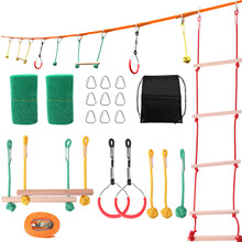 Outdoor Children Climbing Sports Obstacle Walking Flat Belt Balance Training Equipment Kids Rope Combination Suit Rope Ladder