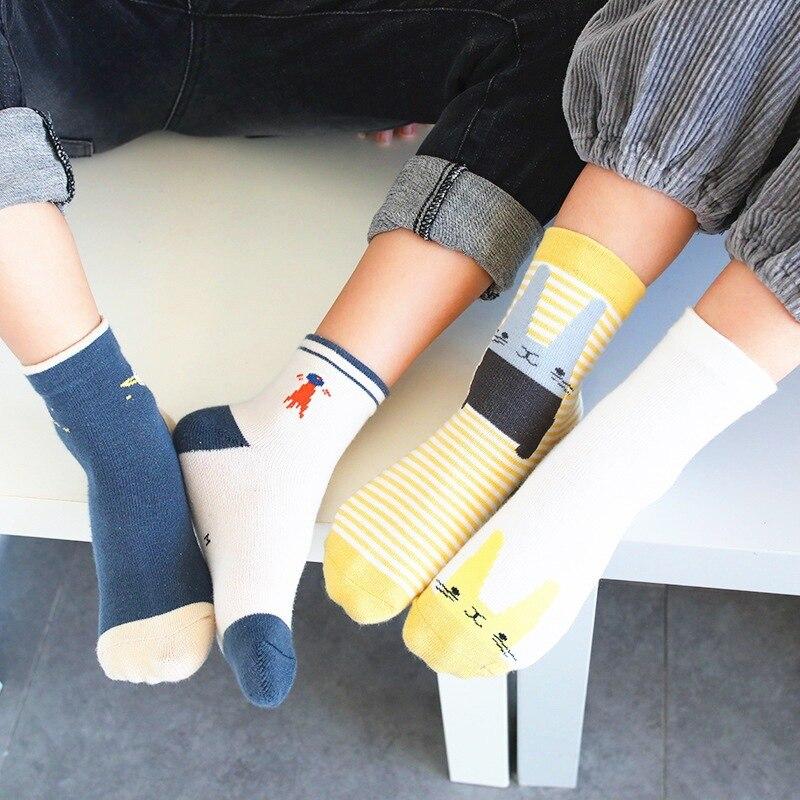 2019 New Style Spring And Autumn Animal Cartoon CHILDREN'S Socks Trend Children's Socks Thin Cotton Men And Women Child Tube Soc