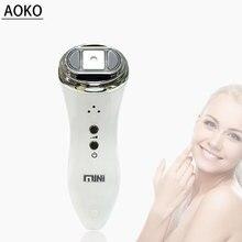 AOKO Portable Mini Hifu Ultrasonic Bipolar RF Beauty Massager Face Lifting Skin Care Anti Wrinkle Beauty Machine Skin Tightening недорого