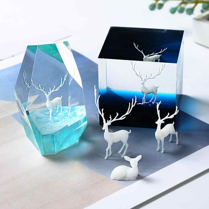 2020 חדש 1 pcs שונה סגנון שרף מיני איילים חומר אפוקסי עובש makeing תכשיטי מילוי עבור DIY תכשיטים