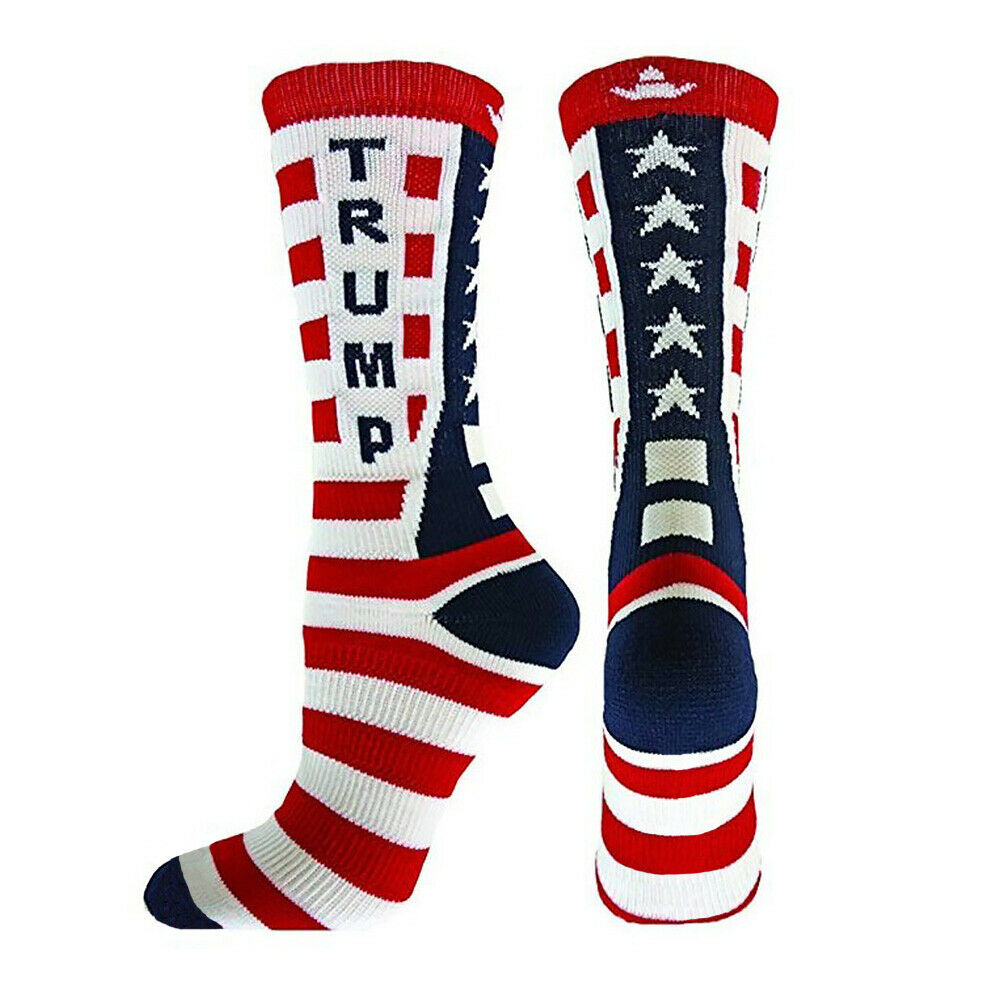 2020 Donald Trump MAGA Crew Socks USA Make America Great Again US Flag President