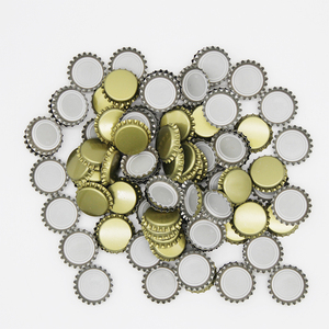 100pcs/lot Crown 26mm Beer Bottle Cap Homebrew Beer Bottle Capping Bottling