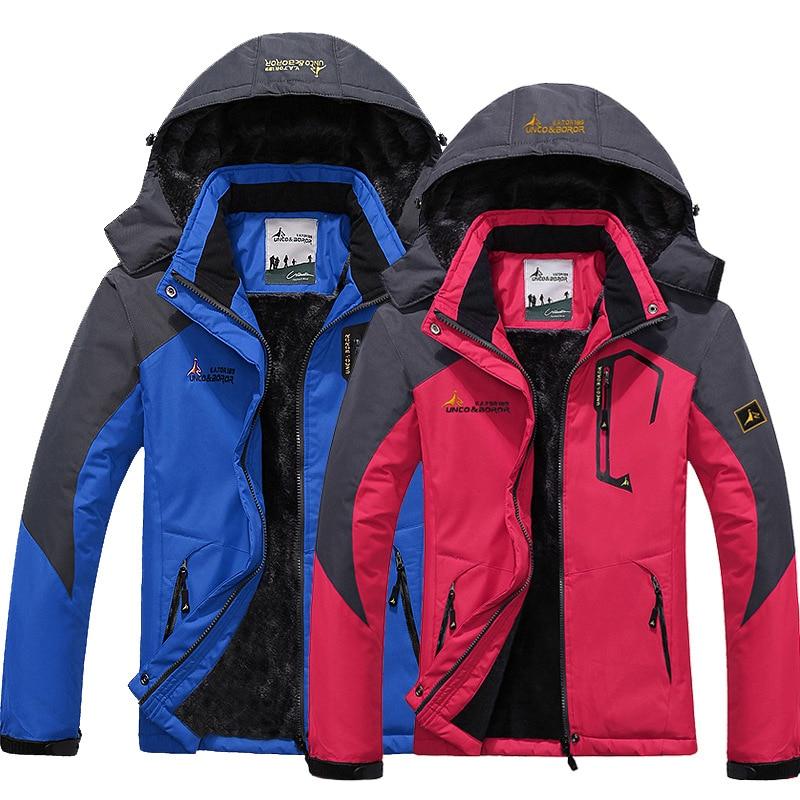 Homme veste Imperméable à L'eau D'hiver Femmes Coupe-Vent Pluie Polaire Extérieure Manteau Chaud Randonnée Camping Trekking Vestes de Ski