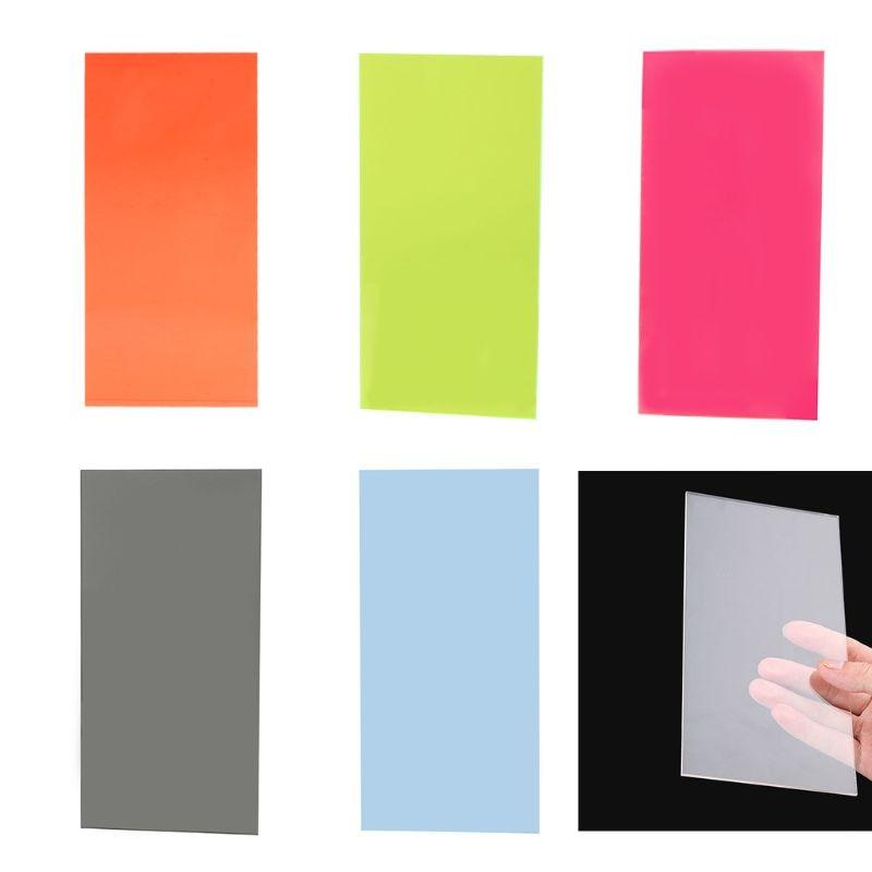 2021 New 10×20cm Plexiglass Board Colored Acrylic Sheet DIY Toy Accessories Model Making