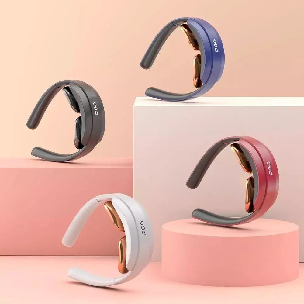 Мини-складной массажер для шеи PGG с подогревом, вибрацией, обезболиванием, зарядкой от USB, для шейного отдела позвоночника, физиотерапии
