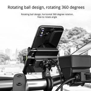 Image 2 - Motosiklet bisiklet mobil telefon tutucu elektrikli bisiklet telefon standı QC3.0 hızlı şarj braketi Tripod desteği 3.5 7 inç Smartphone