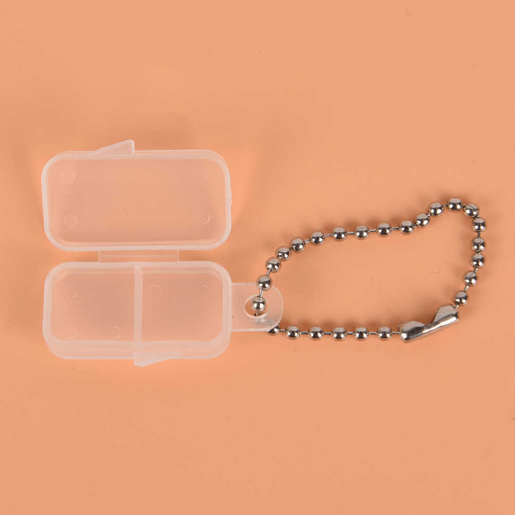 Audífono funda de plástico transparente para batería caja de baterías botón Almacenamiento de batería Estuche Duro apto para 312 #10 #675 #