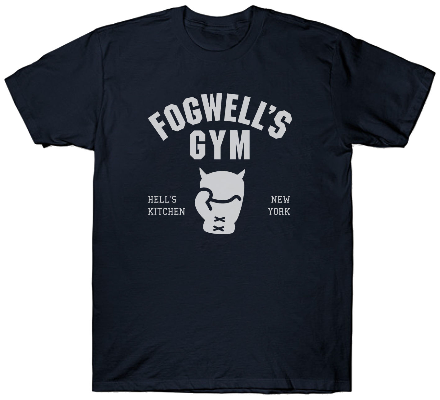 FOGWELL'S GYM T SHIRT TOP MARVEL SUPERHERO DAREDEVIL FILM MOVIE COMIC Printed Pure Cotton Men'S White Style image